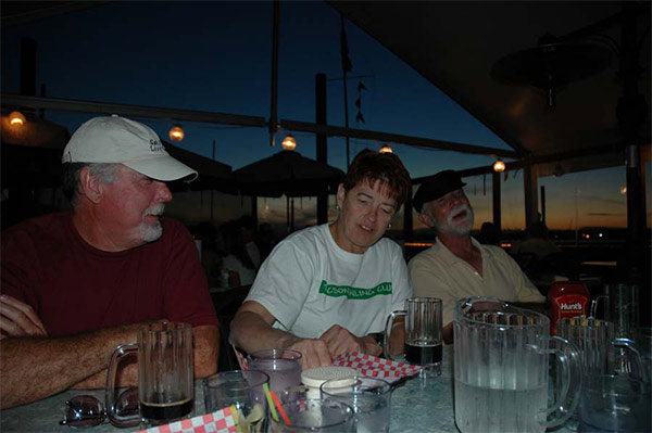 Chris, Sandy (TSC T-shirt) and Skipper Rod (J-30, Sugar Plum)